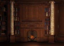 Oude bibliotheek royalty-vrije illustratie
