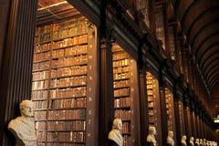 Oude Bibliotheek in Trinity College, Dublin royalty-vrije stock afbeeldingen