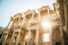 Oude Bibliotheek van Ephesus, Turkije Royalty-vrije Stock Fotografie