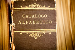 Oude bibliotheekcatalogus Royalty-vrije Stock Afbeelding