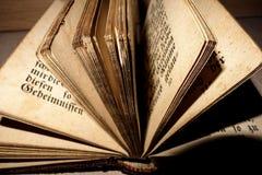 Oude bijbelpagina's Stock Afbeelding