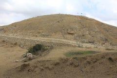 Oude Bijbelse stad van Lachish, vandaag Tel. Lachish Royalty-vrije Stock Afbeeldingen