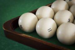 Oude biljartballen Stock Foto's