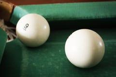 Oude biljartballen Royalty-vrije Stock Afbeelding