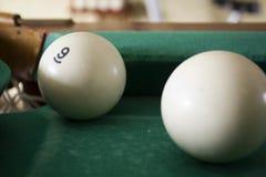 Oude biljartballen Stock Afbeelding