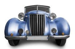 Oude blauwe auto royalty-vrije stock fotografie