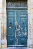 Oude blauwe deur Royalty-vrije Stock Foto
