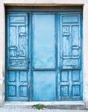 Oude blauwe deur Royalty-vrije Stock Fotografie