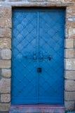 Oude blauwe deur Royalty-vrije Stock Afbeeldingen
