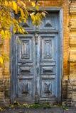 Oude blauwe deuren van 19de eeuw Royalty-vrije Stock Foto's