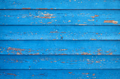 Oude blauwe geschilderde houten muur Royalty-vrije Stock Afbeeldingen
