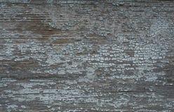 Oude blauwe geschilderde houten raad Stock Afbeeldingen