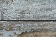 Oude blauwe geschilderde houten raad stock foto
