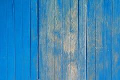 Oude blauwe houten achtergrond stock foto's