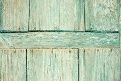 Oude blauwe houten deur Stock Foto