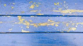 Oude blauwe houten plankentextuur De achtergrond van de boom batten Royalty-vrije Stock Afbeeldingen
