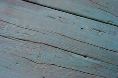 Oude blauwe houten textuurclose-up Stock Afbeeldingen