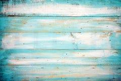 Oude blauwe kleuren houten plank stock foto