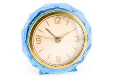 Oude blauwe klok Stock Afbeelding