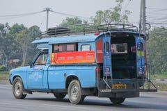 Oude Blauwe minivrachtwagentaxi Royalty-vrije Stock Afbeelding