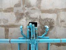 Oude blauwe pijp Stock Afbeelding