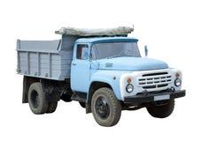 Oude blauwe vrachtwagen Stock Afbeelding
