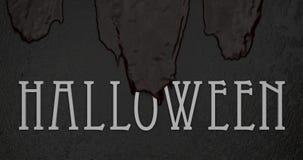 Oude bloedstromen over het witte van letters voorzien Halloween Royalty-vrije Stock Foto's