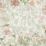 Oude bloemendocument textuur Royalty-vrije Stock Fotografie