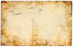 Oude BloemenPrentbriefkaar Stock Foto's