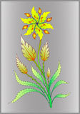 Oude bloemillustratie Stock Foto's