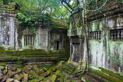 Oude boeddhistische Khmer tempel Stock Afbeelding