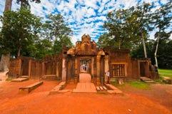 Oude boeddhistische Khmer tempel Stock Afbeeldingen