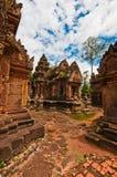 Oude boeddhistische Khmer tempel Royalty-vrije Stock Afbeeldingen
