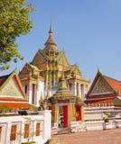 Oude boeddhistische tempel Thailand, Bangkok Royalty-vrije Stock Afbeeldingen