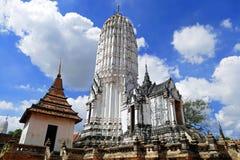 Oude Boeddhistische Tempel van Wat Phutthaisawan, de Eerste Koninklijke Tempel van Ayutthaya-Koninkrijk, in de Historische Thaise Stock Afbeeldingen