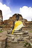 Oude Boedha in Ayudhaya Royalty-vrije Stock Afbeeldingen