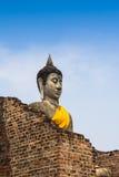 Oude Boedha, Ayutthaya Stock Afbeelding
