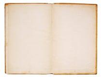 Oude boek dubbele pagina Stock Afbeelding
