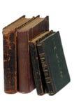 Oude boeken 18 leeftijden Stock Foto