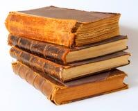 Oude boeken. Stock Foto's