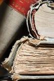 Oude boeken - Macro Stock Afbeelding