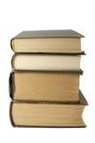 Oude boeken op wit Stock Fotografie
