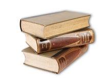 Oude boekenstapel Stock Foto's
