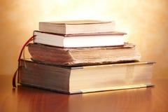 Oude boekenstapel Royalty-vrije Stock Foto