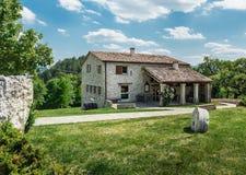Oude boerderij in Toscaan Stock Foto