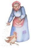 Oude boervrouw Royalty-vrije Stock Afbeeldingen