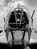 Oude bommenwerper stock foto