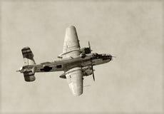 Oude bommenwerper royalty-vrije stock afbeelding