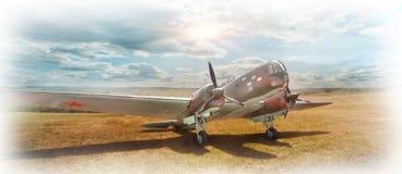 Oude bommenwerper Royalty-vrije Stock Foto's