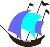 Oude boot royalty-vrije illustratie